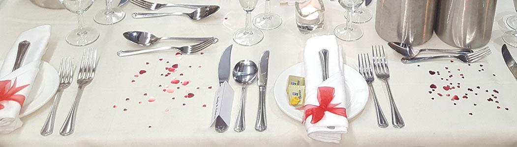 Diner Table Set-up